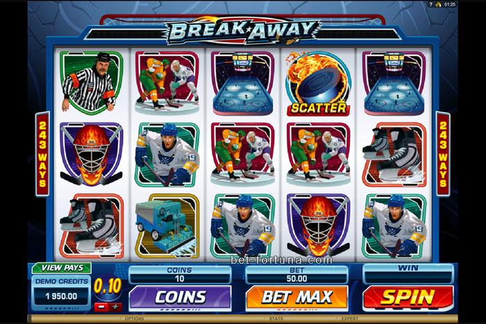 играть бесплатно в слот Break Away от Казино Икс