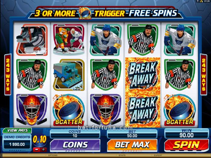 Бонусы от автомата Break Away на портале Казино-X
