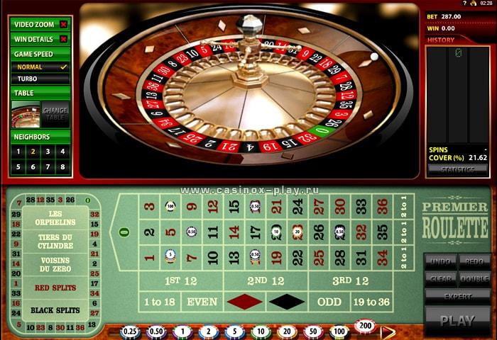 Premier Roulette автомат играть в Казино-X